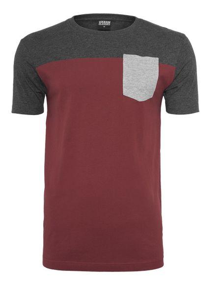 Urban Classics Herren 3-Tone Pocket T-Shirt