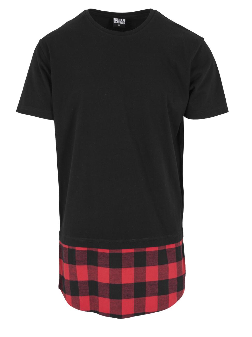 Urban Classics Herren Long Shaped Flanell Bottom T-Shirt