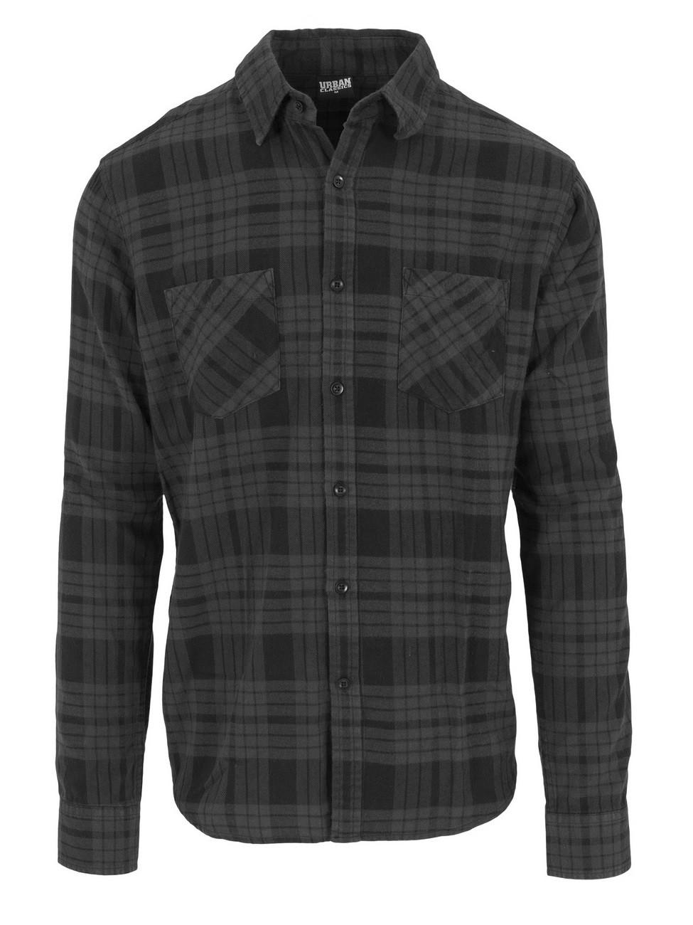 Urban Classics Herren Hemd Checked Flanell
