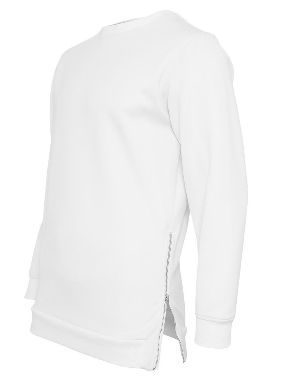 Urban Classics Herren Sweater Side-Zip Neopren Crew