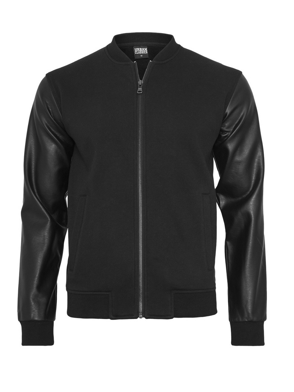 urban-classics-herren-jacke-zipped-leather-imitation-sleeve