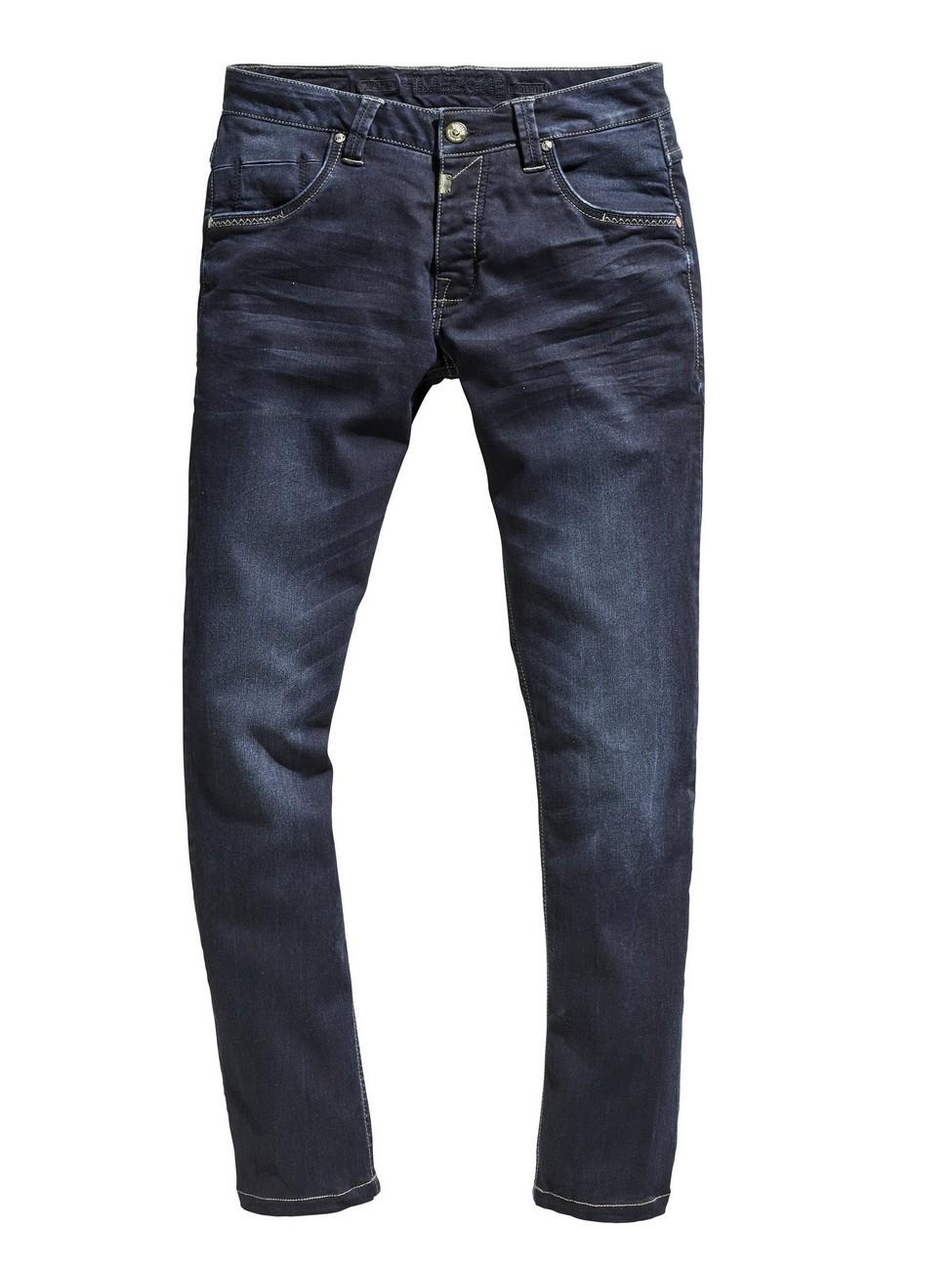 Timezone Herren Jeans EduardoTZ Slim Fit - Blau - Ink Shadow Wash