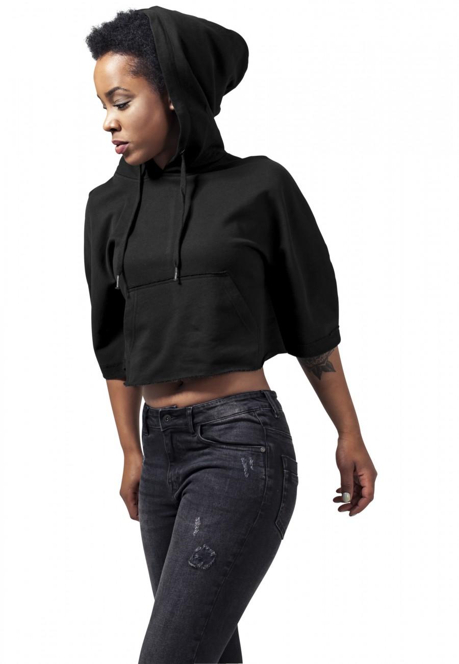 Urban Classics Damen Poncho Cropped Hooded