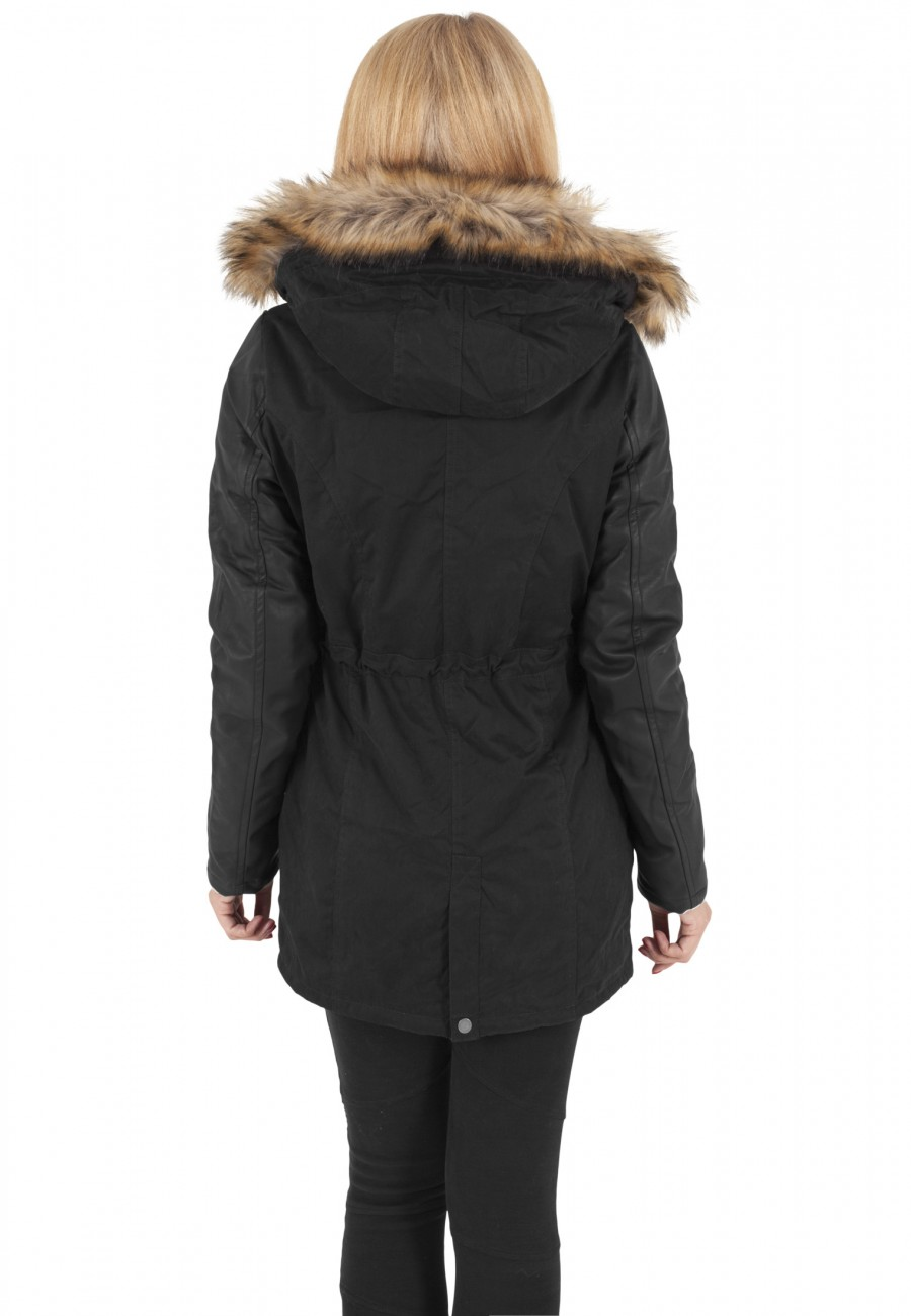 urban-classics-damen-jacke-ladies-leather-imitation-sleeve-parka