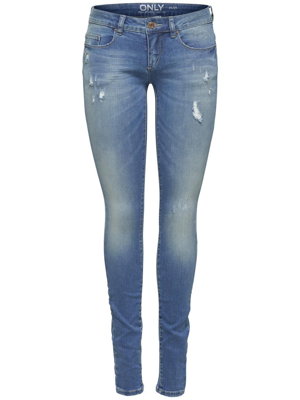 3366b164aa81 Only Damen Jeans onlCORAL SL SK DNM JEANS BJ8191 - Skinny Fit - Blau -  Medium Blue