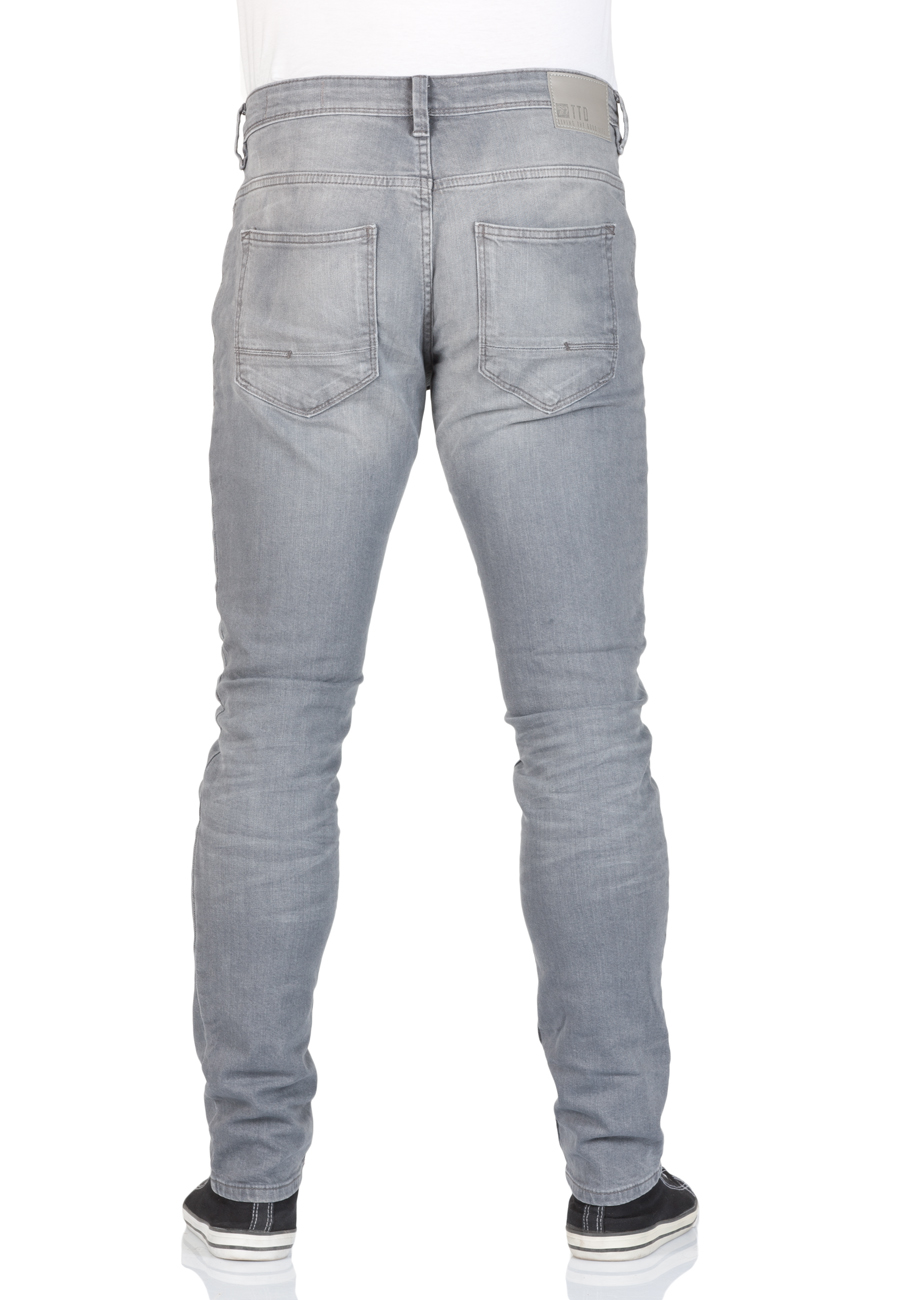 Tom Tailor Denim Herren Jeans Culver Skinny Fit - Grau - Grey Denim ... a1b25526f1