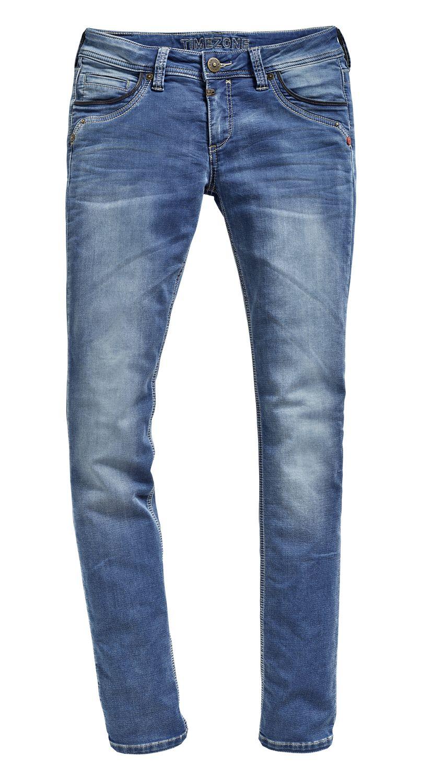 26664c30fa68 Timezone Damen Jeans TahilaTZ - Slim Fit - Blau - Blue Denim Wash