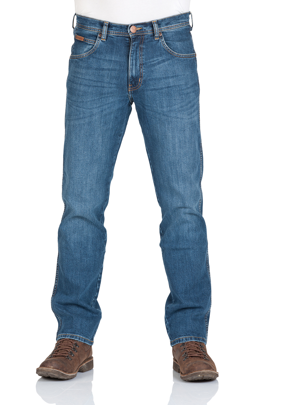 Wrangler Herren Jeans Arizona Regular Fit - Blau - Blue Rocks - Blue Dimension - Wild Wash Tint - Edgy Blue