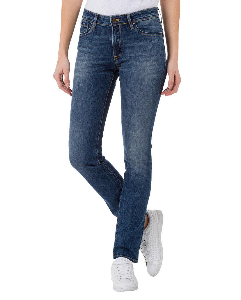 Cross Jeans Damen Jeans Anya - Slim Fit - Blau - Dark Blue Used ... f1fcba63ff