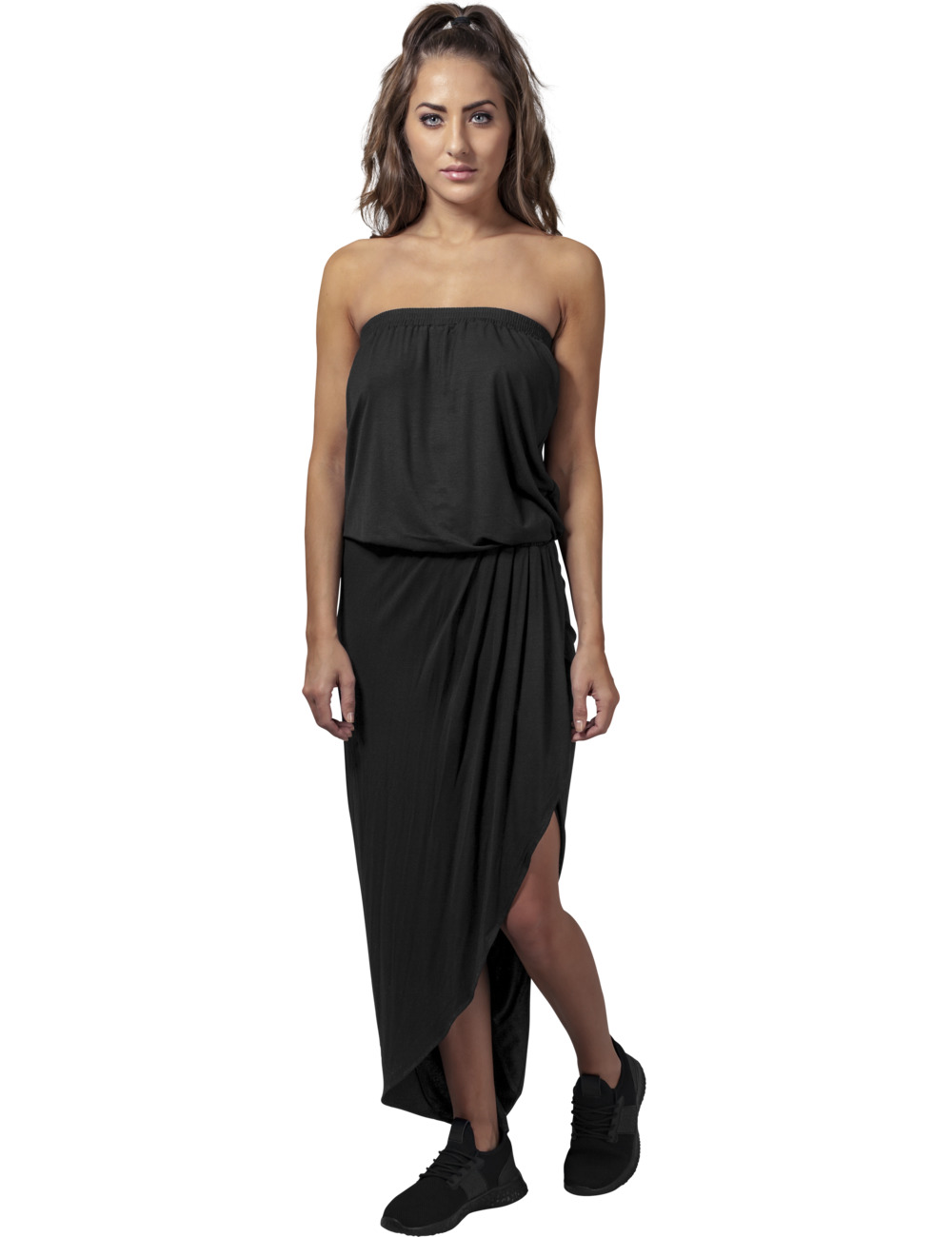 urban-classics-damen-kleid-viscose-bandeau-dress