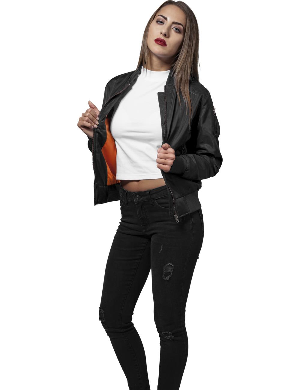 Urban Classics Damen Nylon Twill Bomber Jacket