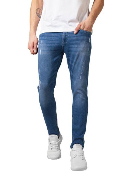 Urban Classics Herren Jeans Skinny Ripped Stretch Skinny Fit