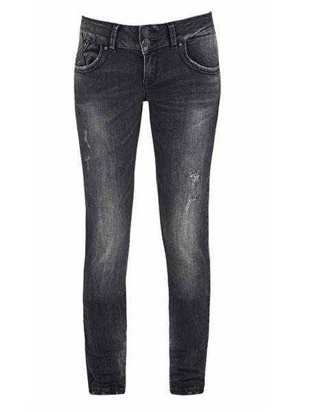 LTB Damen Jeans Molly Slim Fit - Schwarz - Vista Black