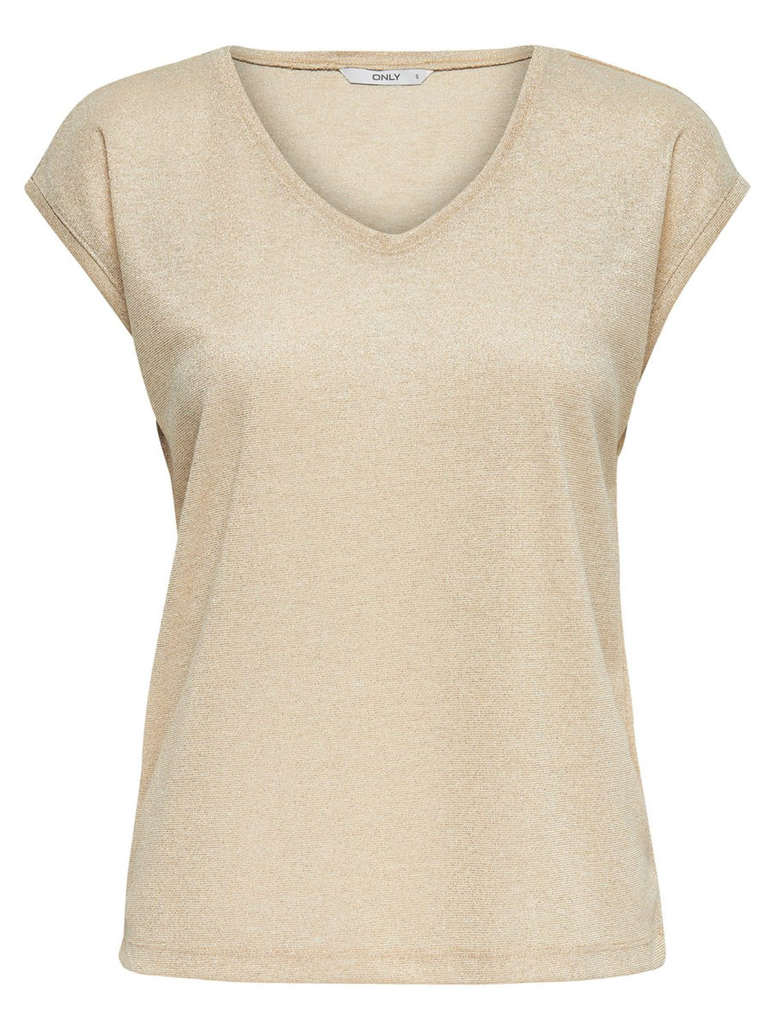 only-damen-top-onlsilvery-s-s-v-neck-lurex