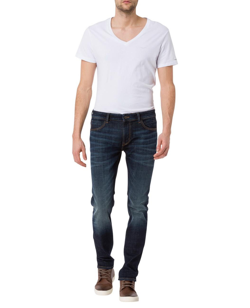 cross jeans herren jeans johnny slim fit blau deep blue kaufen jeans direct de. Black Bedroom Furniture Sets. Home Design Ideas