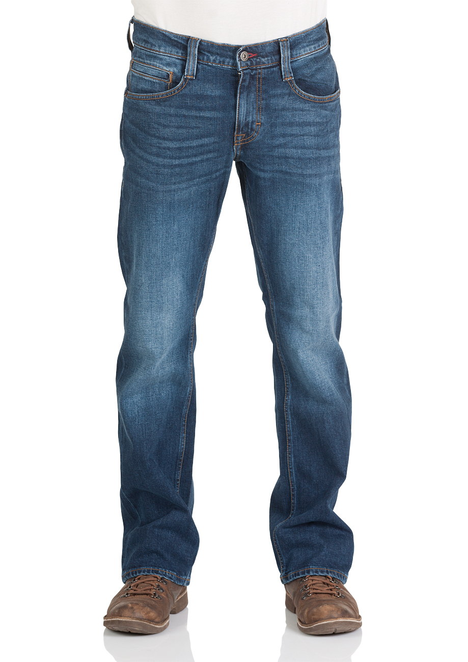 Mustang Herren Jeans Oregon - Bootcut - Blau - Light Blue - Mid Blue - Dark Blue- Black