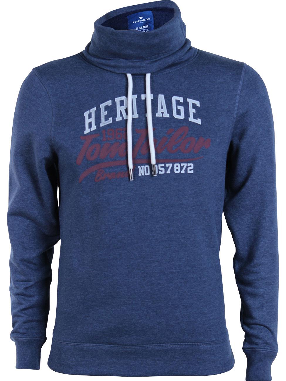 5a9ee6b8e506 Tom Tailor Herren Pullover Basic mit Logo Print kaufen - JEANS–DIRECT