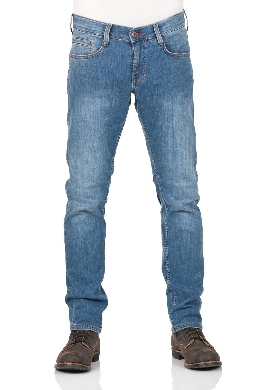 Mustang Herren Jeans Oregon - Tapered Fit - Blau - Light Blue - Dark Blue