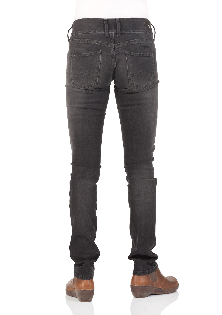 sale retailer 4dd95 f007b Pepe Jeans London Damen Jeans Vera - Regular Fit - Powerflex - Schwarz -  Black