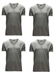 Light Grey Melange (12059219) - V-Neck
