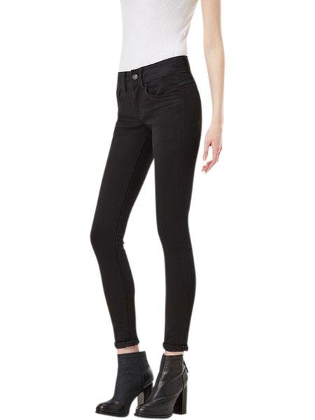 G-Star Damen Jeans Lynn Mid Waist -  Super Skinny  - Schwarz - Rinsed