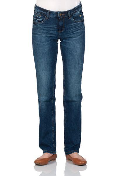 Tom Tailor Damen Jeans Straight Alexa - Straight Fit - Blau - Mid Stone Wash