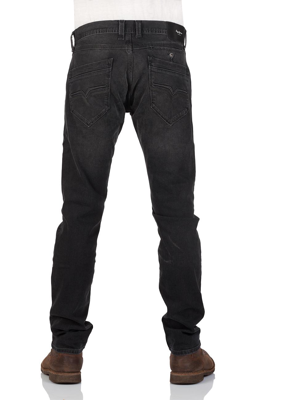 Pepe Jeans Herren Jeans Spike Slim Fit Schwarz Black Denim