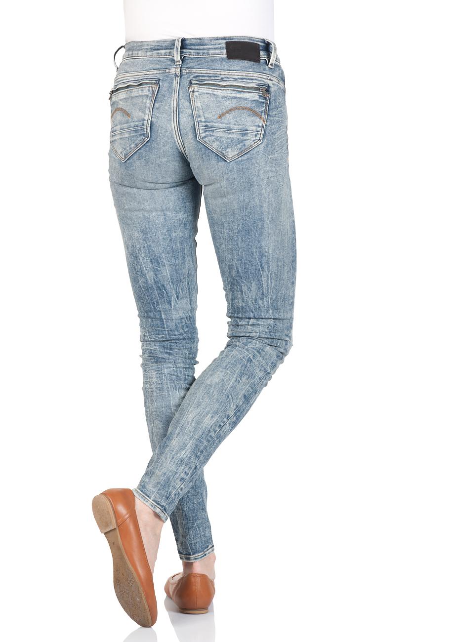 g-star-damen-jeans-midge-zip-mid-waist-skinny-fit-blau-vintage-aged-destroyed, 29.95 EUR @ jeans