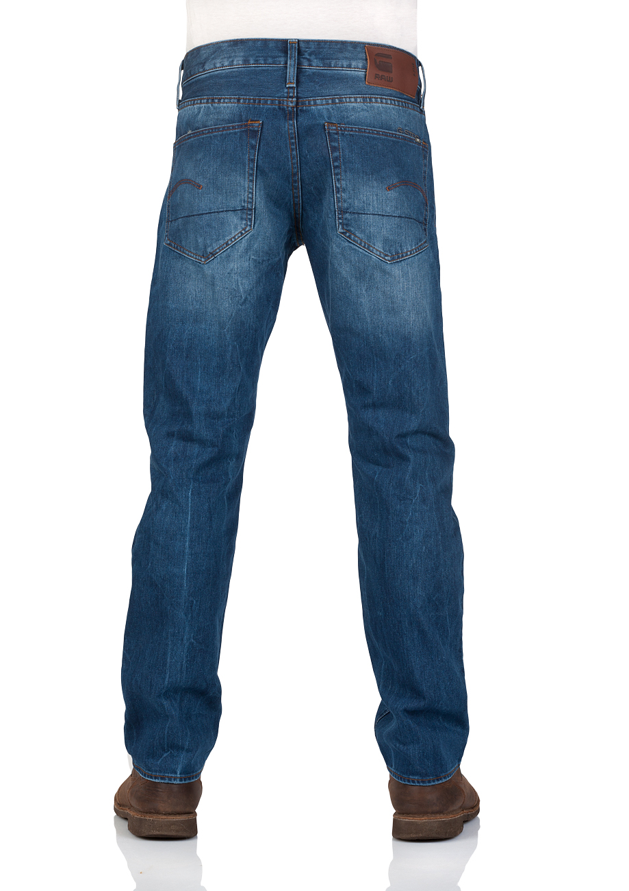 g-star-herren-jeans-3301-straight-fit-blau-medium-aged
