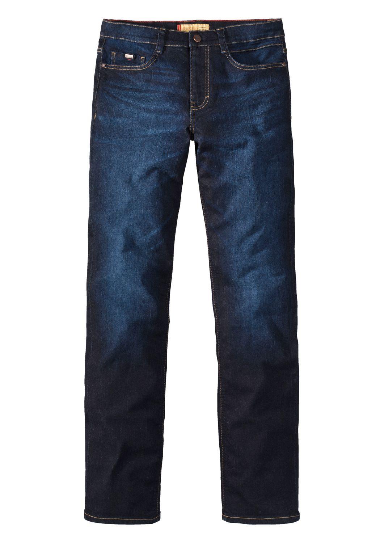 Paddock`s Herren Jeans Ranger - Slim Fit - Blau - Blue Rinse with Slightly Moust