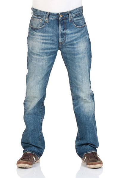 G-Star Herren Jeans 3301 Loose Fit - Blau - Medium Aged