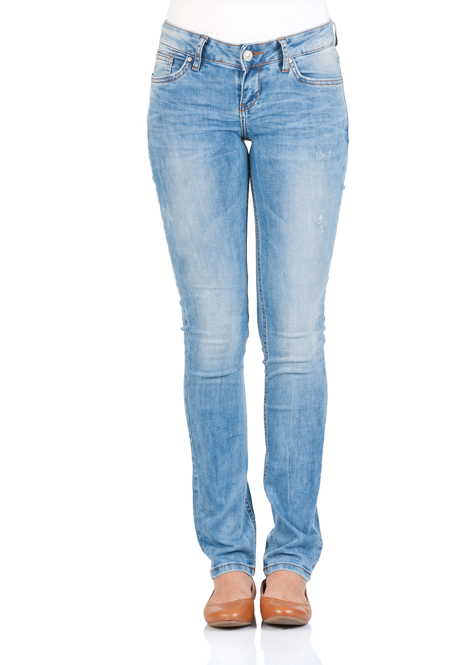 LTB Damen Jeans Aspen Regular Slim Straight  - Blau - Aurra Wash