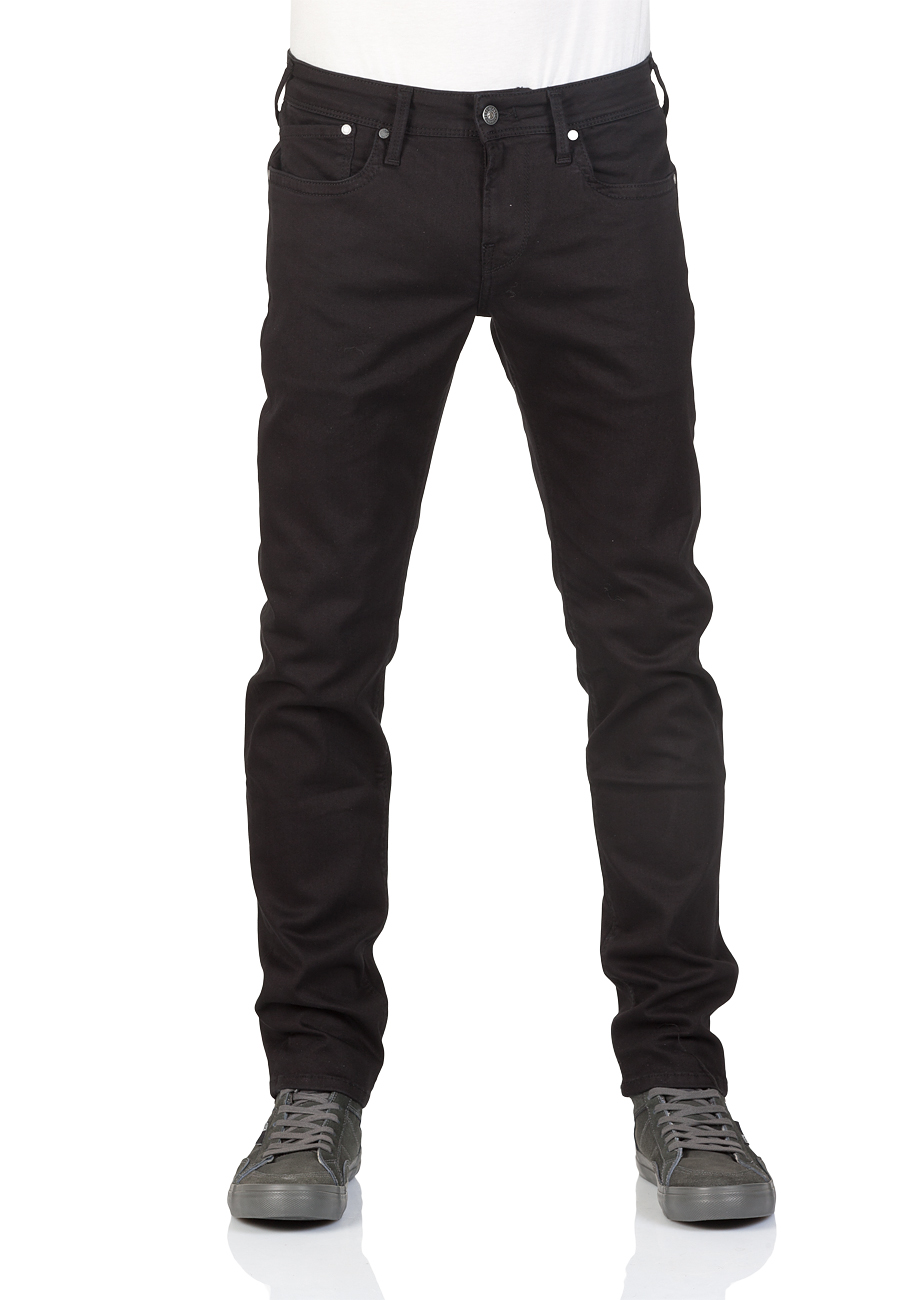 Pepe Jeans Herren Jeans Hatch - Slim Fit - Schwarz - Black Denim ... 801c366da3