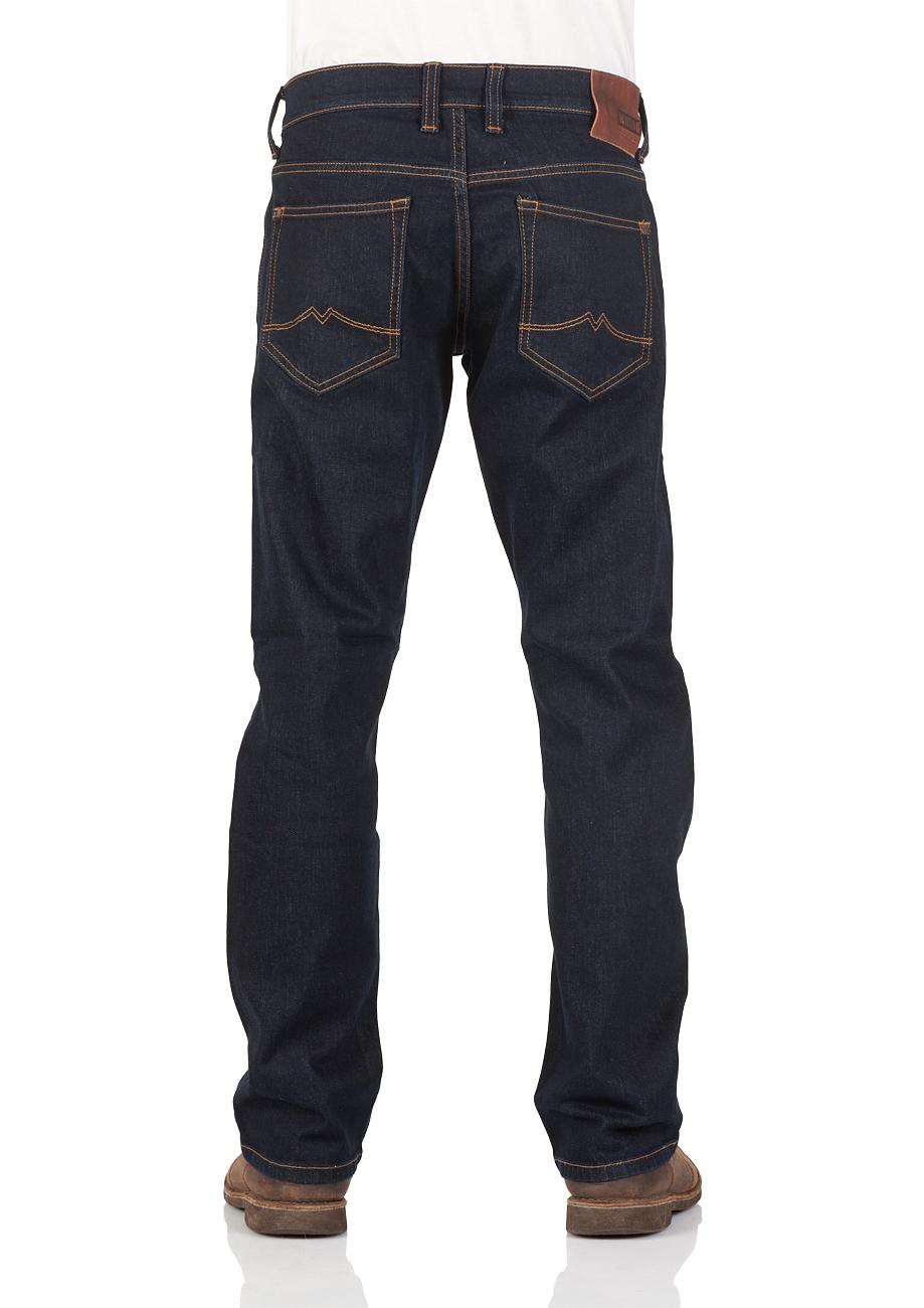 Mustang Herren Jeans Oregon Straight - Blau - Rinse Washed