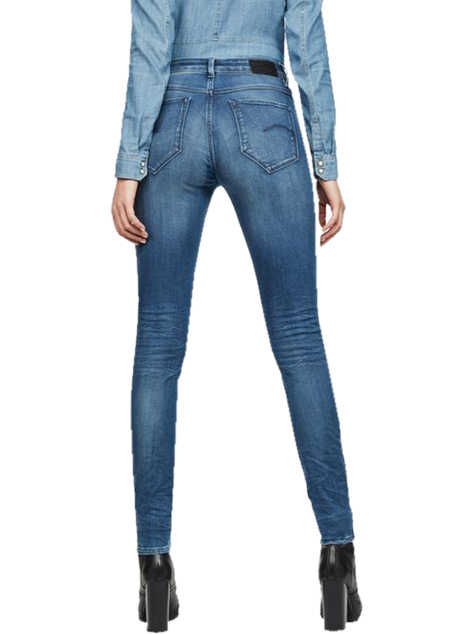 g-star-damen-jeans-shape-high-super-skinny-blau-medium-aged, 139.95 EUR @ jeans