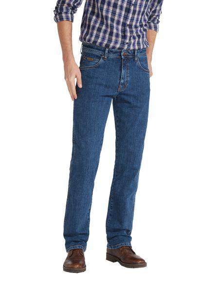 Wrangler Herren Jeans Arizona Stretch Regular Fit - Blau - Rolling Rock
