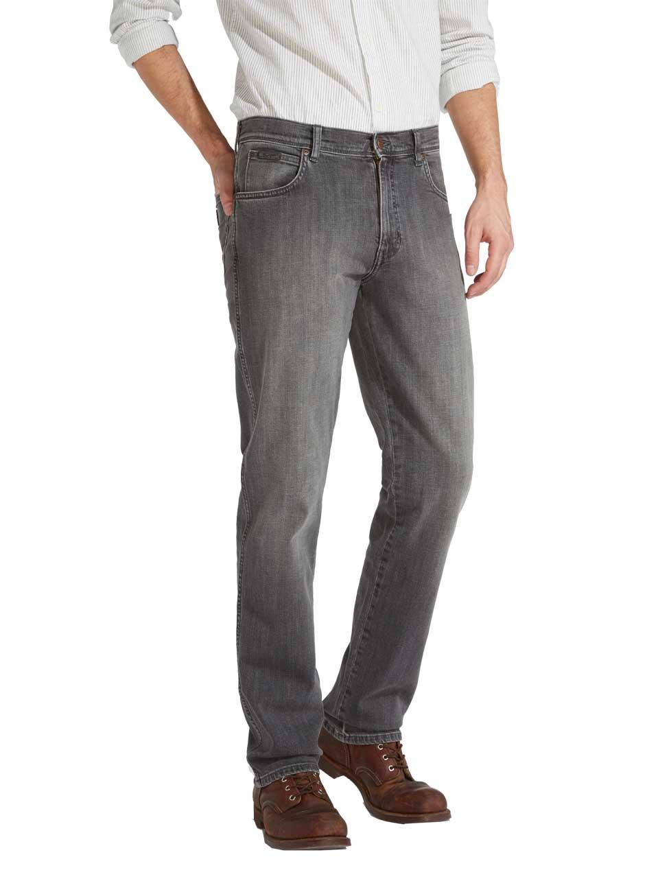 sehr schön 4539d a93b9 Wrangler Herren Jeans Texas Stretch - Regular Fit - Grau - Graze