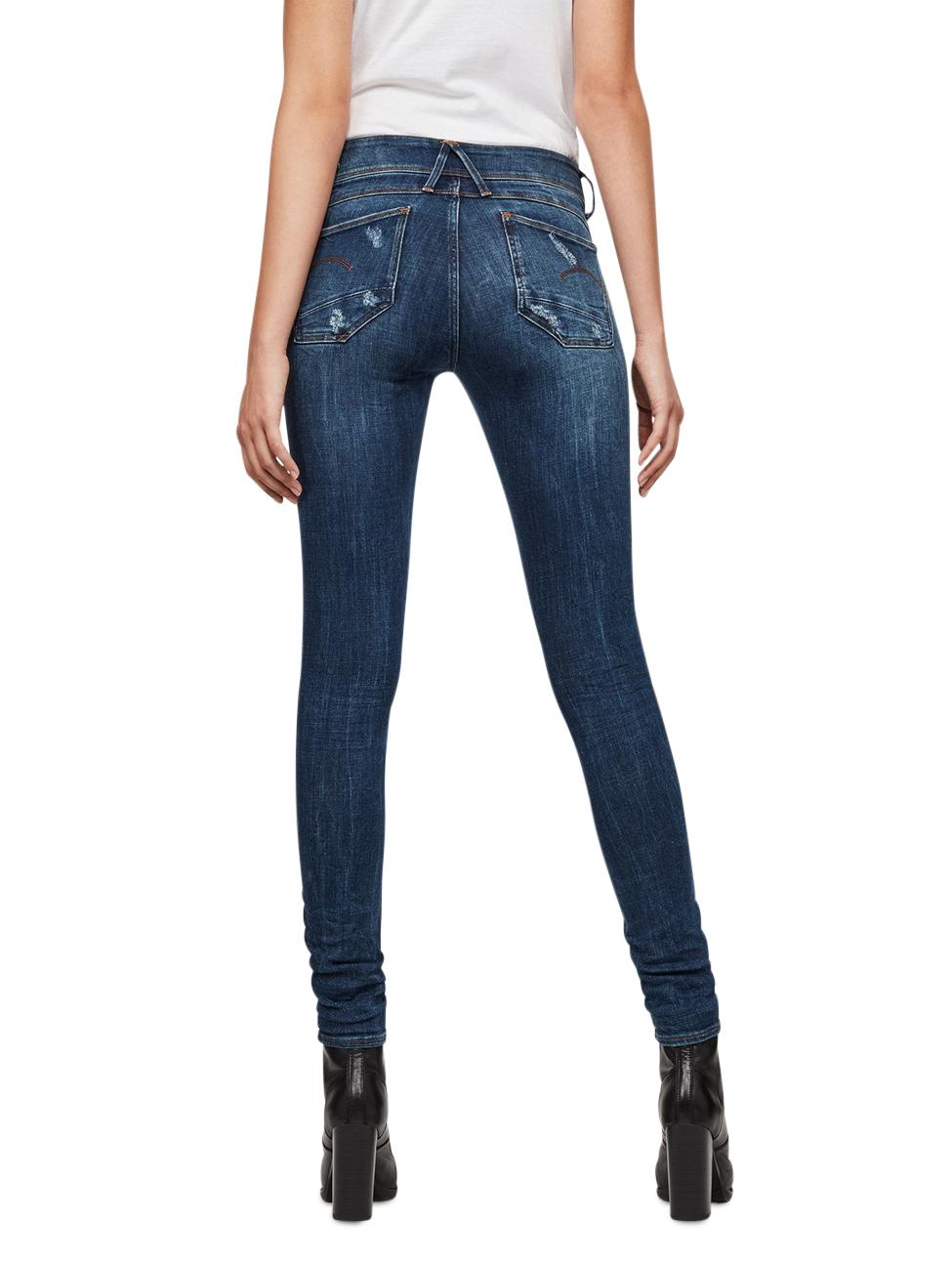g-star-damen-jeans-lynn-mid-waist-super-skinny-blau-dark-aged-restored, 99.95 EUR @ jeans