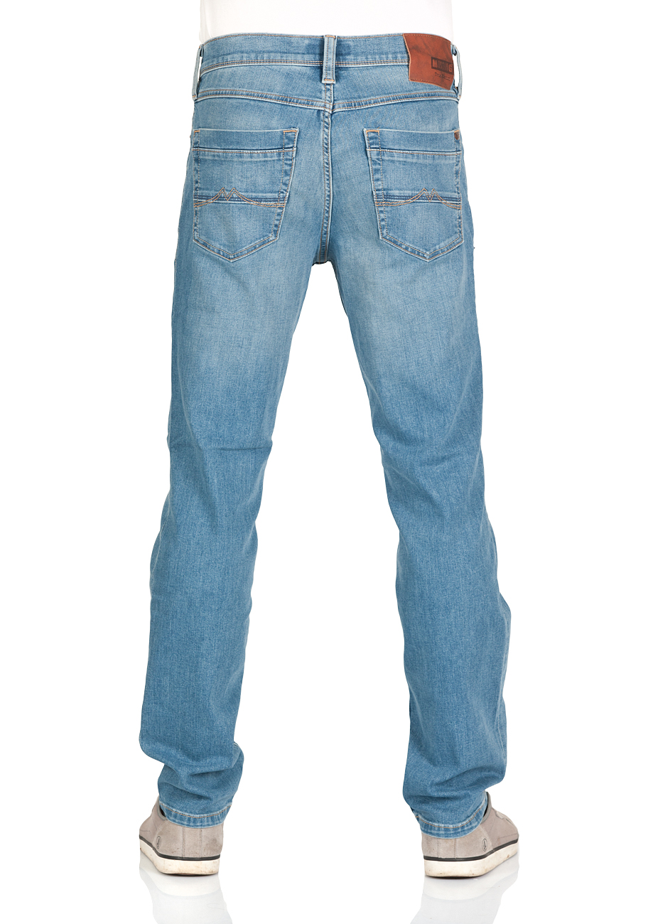 Mustang Herren Jeans Washington - Slim Fit - Blau - Light Blue Denim