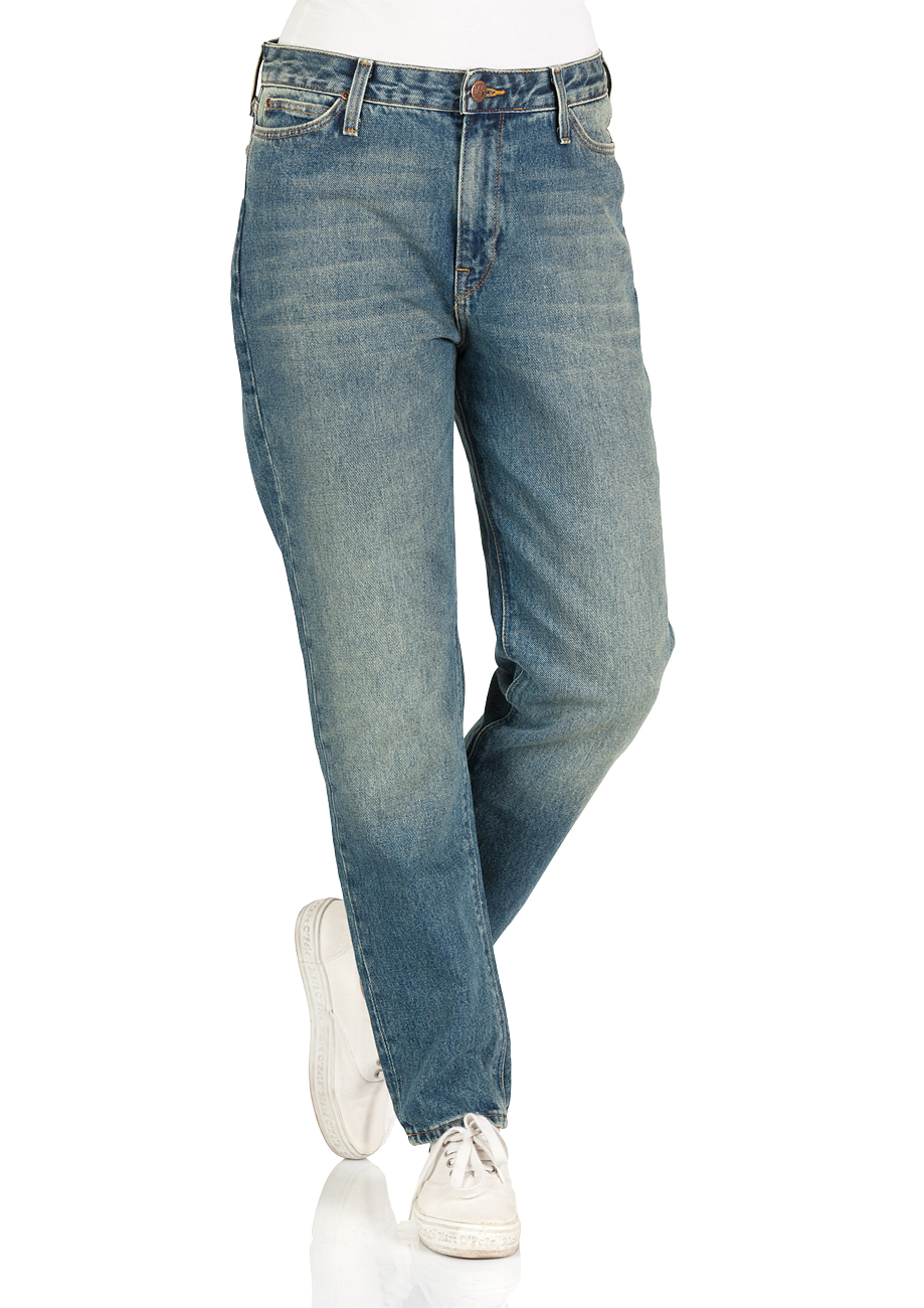Lee Damen Jeans Mom - Straight Fit - Blau - Dusk Vintage