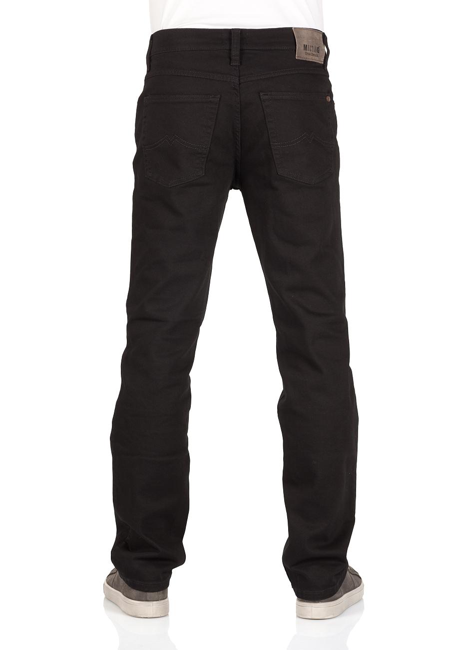 Mustang Herren Jeans Tramper - Straight Fit - Schwarz - Super Dark