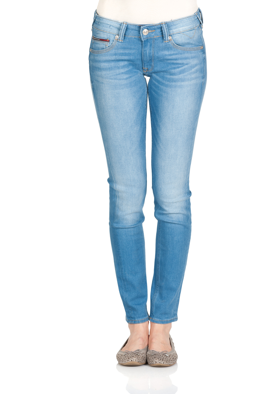 40f2b7984d048e Tommy Hilfiger Damen Jeans Low Rise Skinny Sophie SCST - Skinny Fit - Blau  - Santa