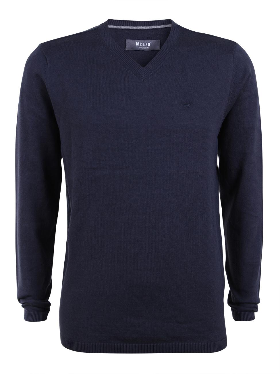 Mustang Herren Basic Pullover Baumwolle V-Neck kaufen - JEANS-DIRECT.DE aeb21f8ecf