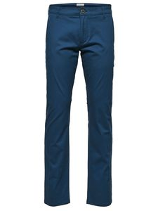 Selected Herren Chino Hose SLHSTRAIGHT-PARIS - Blau - Moonlit Ocean