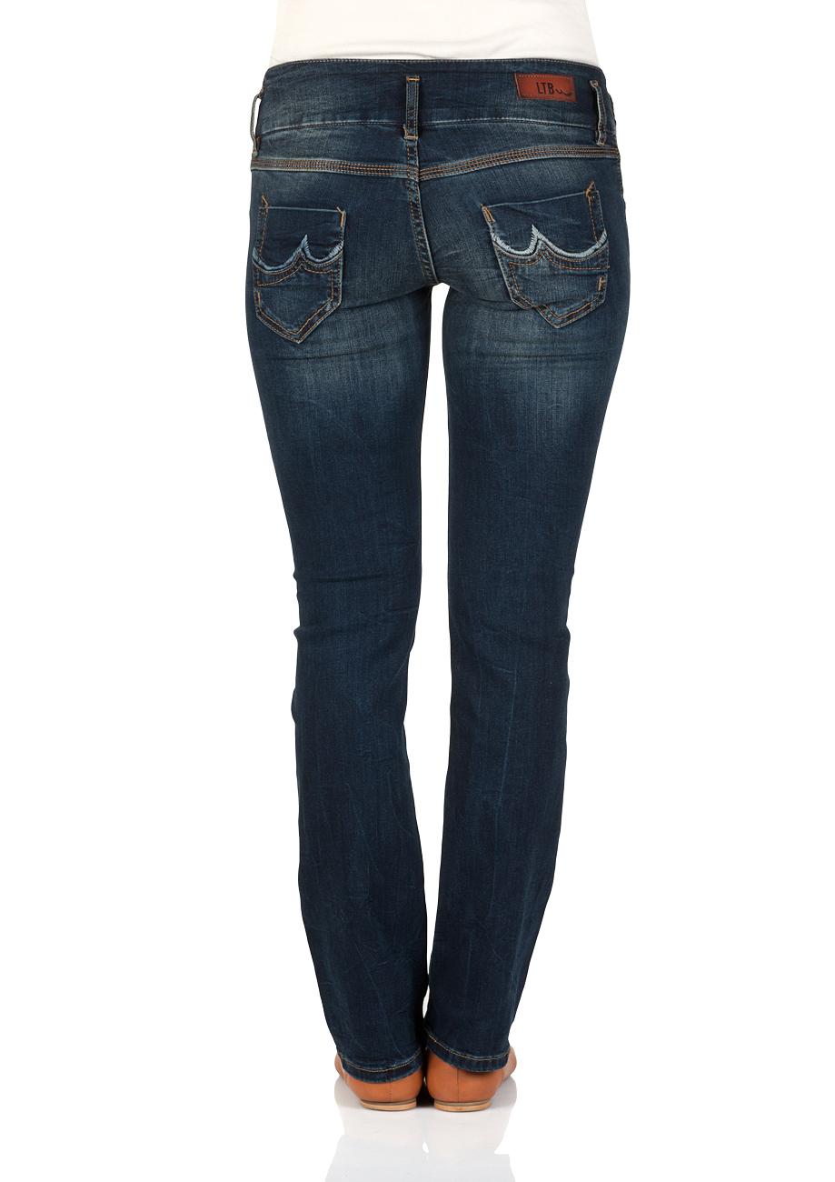 LTB Damen Jeans Jonquil Slim Straight - Blau - Malena Wash
