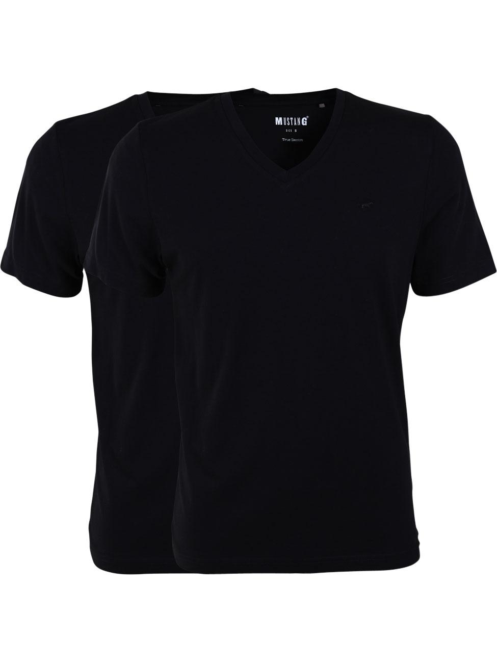 mustang-herren-tshirt-v-neck-2er-pack
