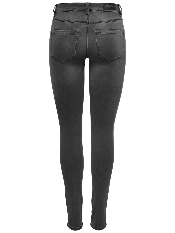 Only Damen Jeans onlROYAL REG SK DNM JEANS BJ312  - Skinny Fit - Grau - Dark Grey