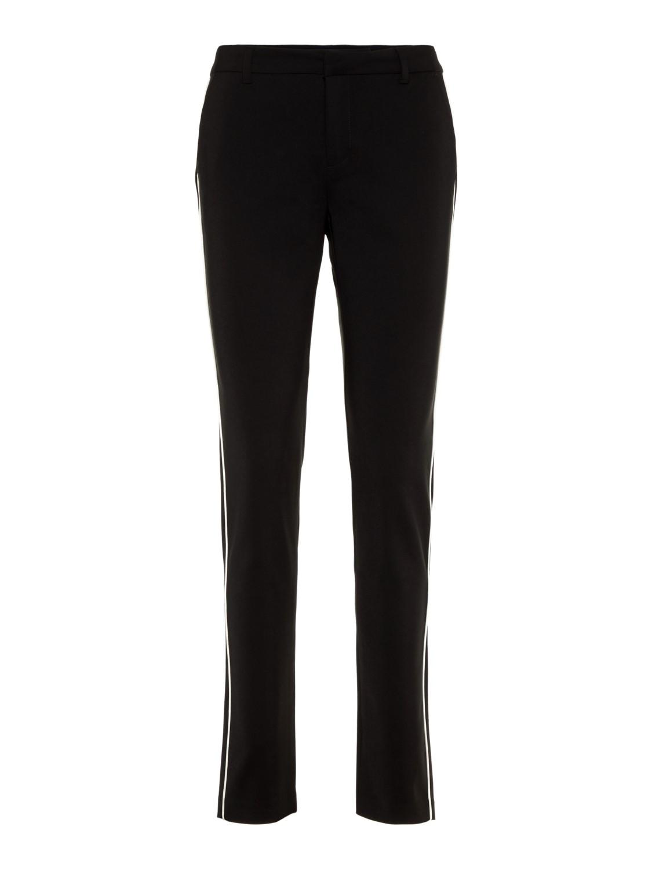 Bestbewerteter Rabatt neuesten Stil von 2019 ausgewähltes Material Vero Moda Damen Hose VMLEAH MR CLASSIC PIPING PANT- Slim Fit - Schwarz -  Black