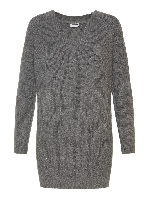 Noisy May Damen Kleid NMSATI L/S V-NECK CABLE KNIT DRESS