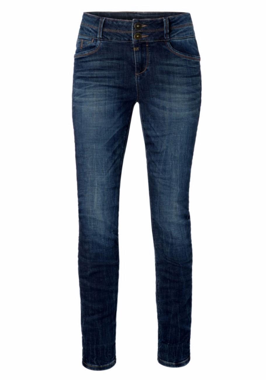 Timezone Damen Jeans EnyaTZ Womenshape Slim Fit Blau Classic Indigo Wash